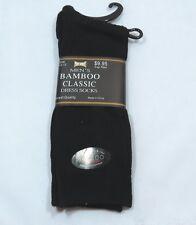 Classic Mens Dress Crew Socks Black 75% Bamboo Ribbed Thin Natural Fiber dry
