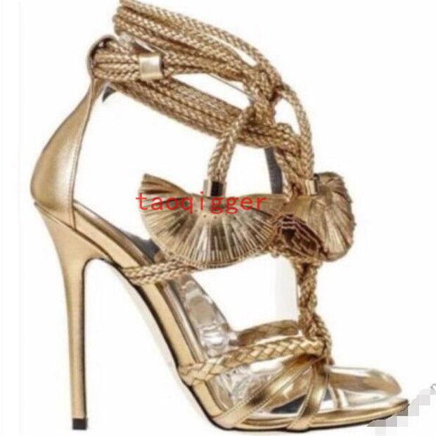 s gladiateur les escarpins sandales cross sangle tassel sandales escarpins à talon de chaussures de pompes partie f0fc87
