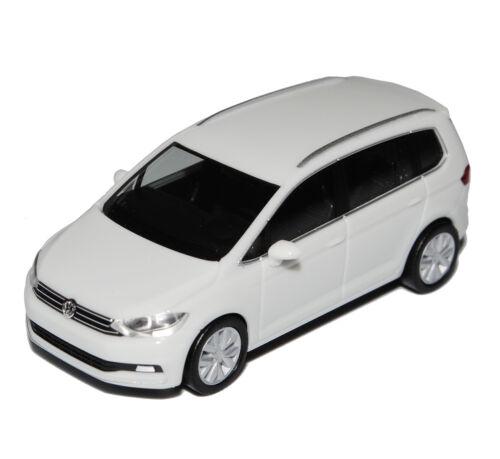 VW Volkswagen Touran II blanco de 2015 H0 1 87 Herpa modelos coches con o sin...