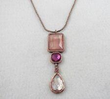 Collier VINTAGE Cristal Rose/Necklace 2