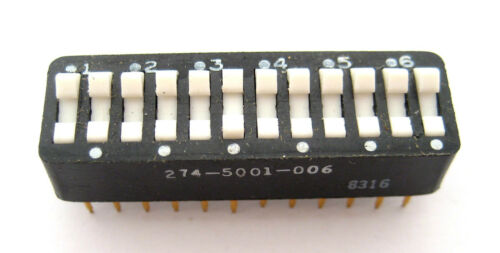 12-Position DIP Switch Hard to Find Item Rocker Type