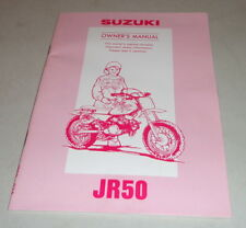 Betriebsanleitung Suzuki Motorrad JR 50 Stand 08/1993