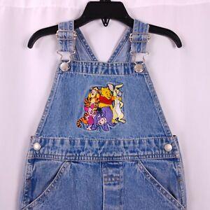 0f8f98f42 Vtg Disney Store Denim Overalls Size 3T Pooh and Friends Jumper ...