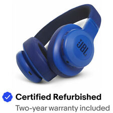 JBL JBLE55BTBLU-Z Bluetooth Headphones, Blue - Certified Refurbished