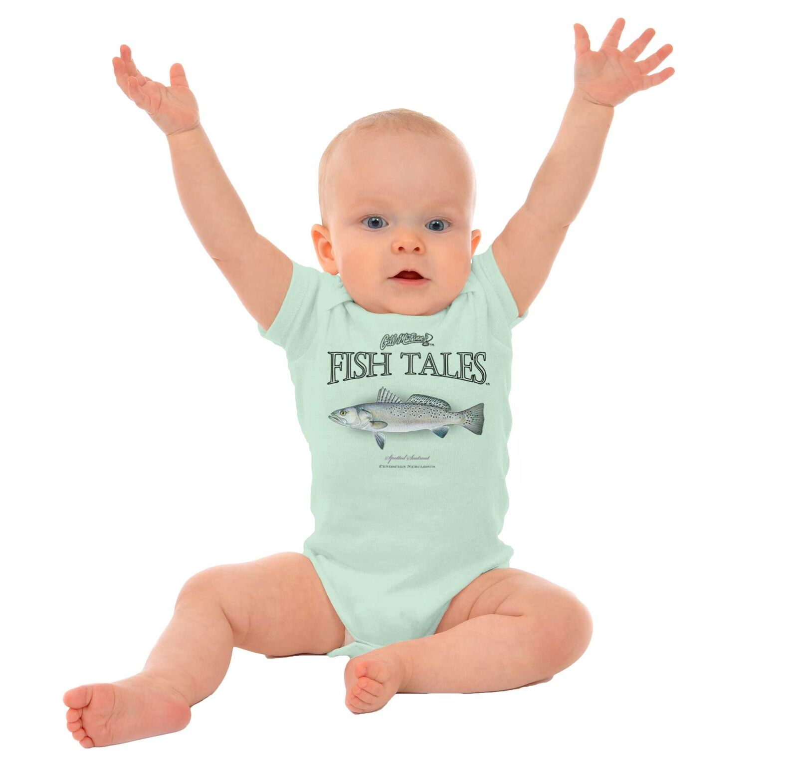 Spotted Seatrout Funny Fish Angler Fisherman Nature Gift Infant Baby Romper