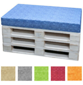 Cushion Pallet Euro Pallet Removable Zip 120x80 h8 Plain Unit Washable