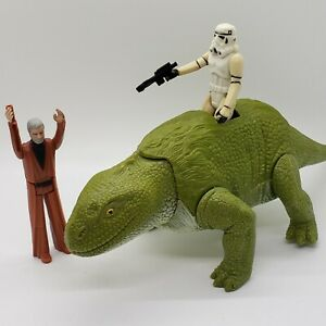 Vintage-1979-Star-Wars-Dewback-Stormtrooper-Blaster-Obi-Wan-Figure-Lot-Kenner