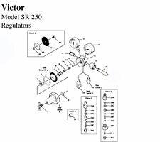 REPAIR KIT - VICTOR SR250D OXY REG - INTERNAL PARTS AV250RK