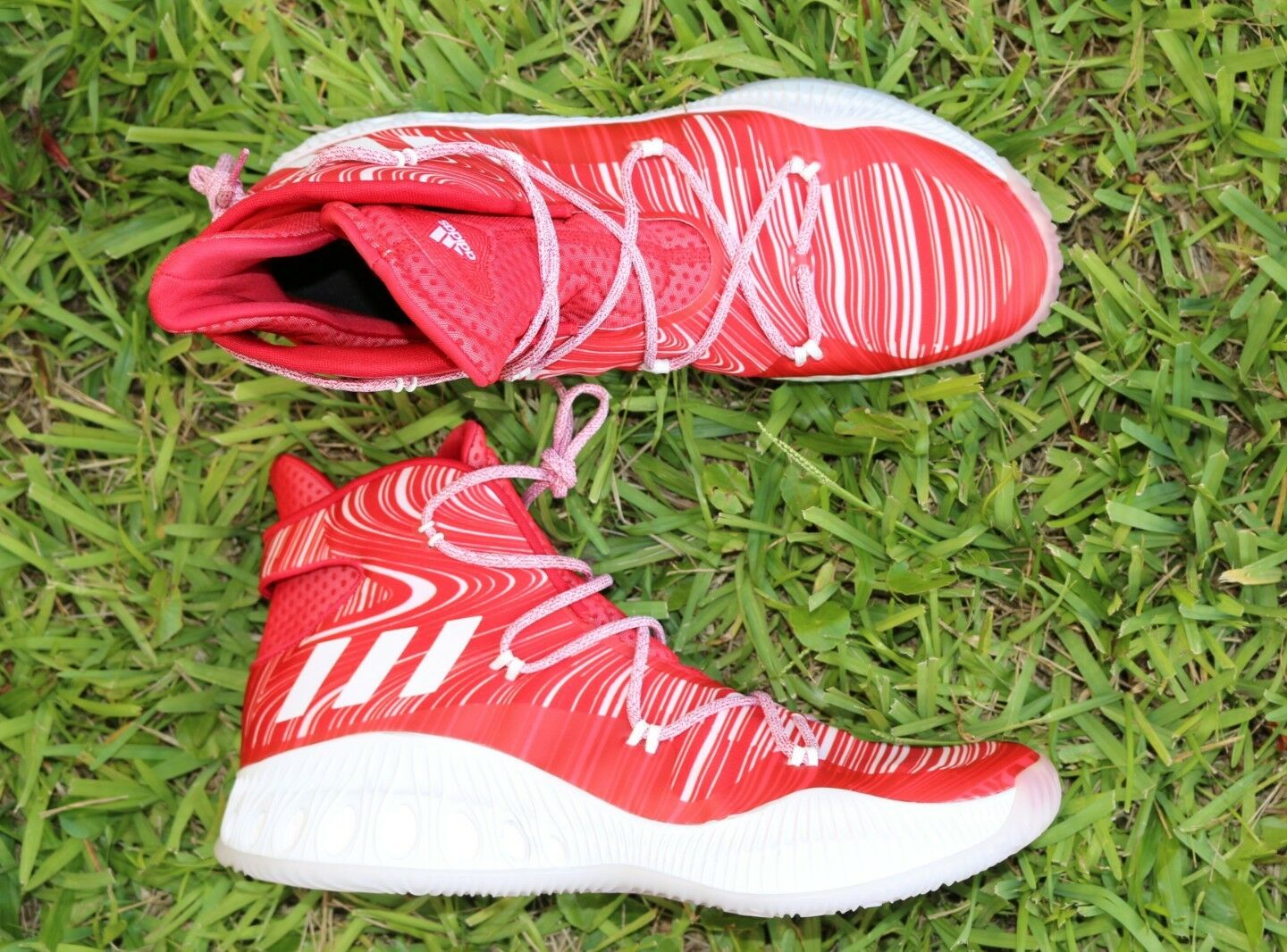 Adidas Crazy Explosive Size Boost White red Mens Size Explosive 19 Basketball Shoe B38854 5def83