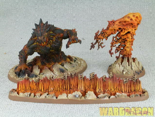 120mm Warhammer Age Of Sigmar WDS painted Fyreslayers Magmic Invocations h73