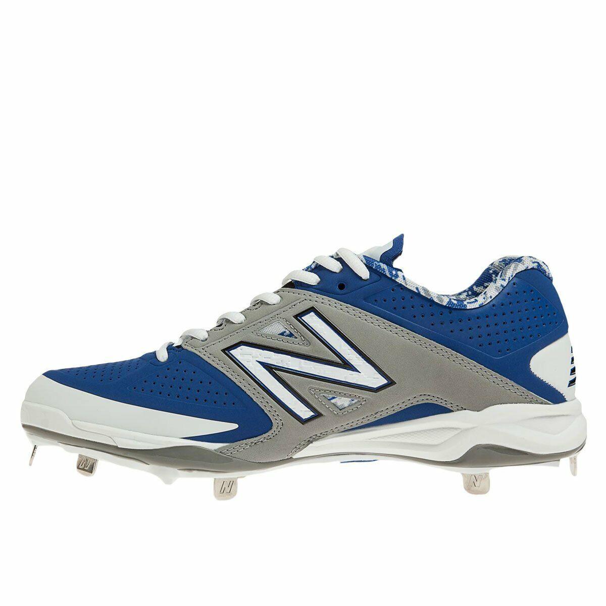 31b01491066 New Balance Mens L4040v2 Low Cleats bluee Grey D 7 Metal Baseball ...