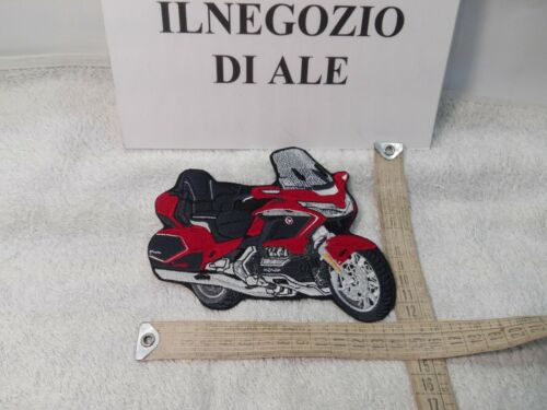 PATCH TOPPA RICAMATA MOTO GOLDWING GL1800 NEW 14x12CM COLORE CANDY ARDENT RED