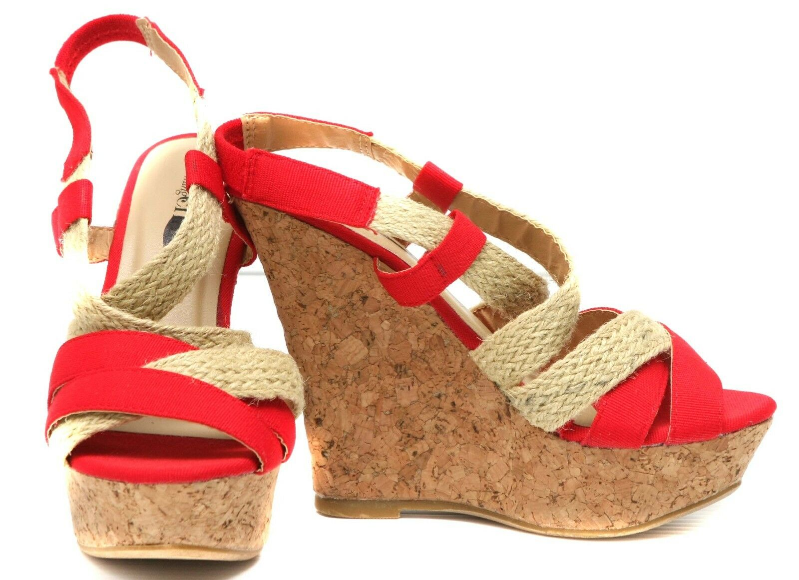New Charles By Charles David Sophie  Womens cork Wedge Sandals shoes sz  9.5