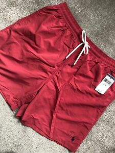 RALPH-LAUREN-POLO-NANTKT-RED-LOGO-CLASSIC-USA-SWIMSHORTS-SHORTS-XL-NEW-TAGS