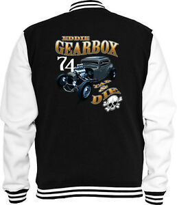 College Gearbox V8 Rod Hot USA Jacket Rockabilly Vintage Sweat qERU7wZ