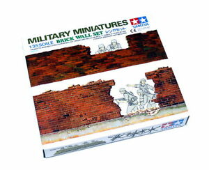 Tamiya-Military-Model-1-35-Miniatures-Brick-Wall-Set-Scale-Hobby-35028