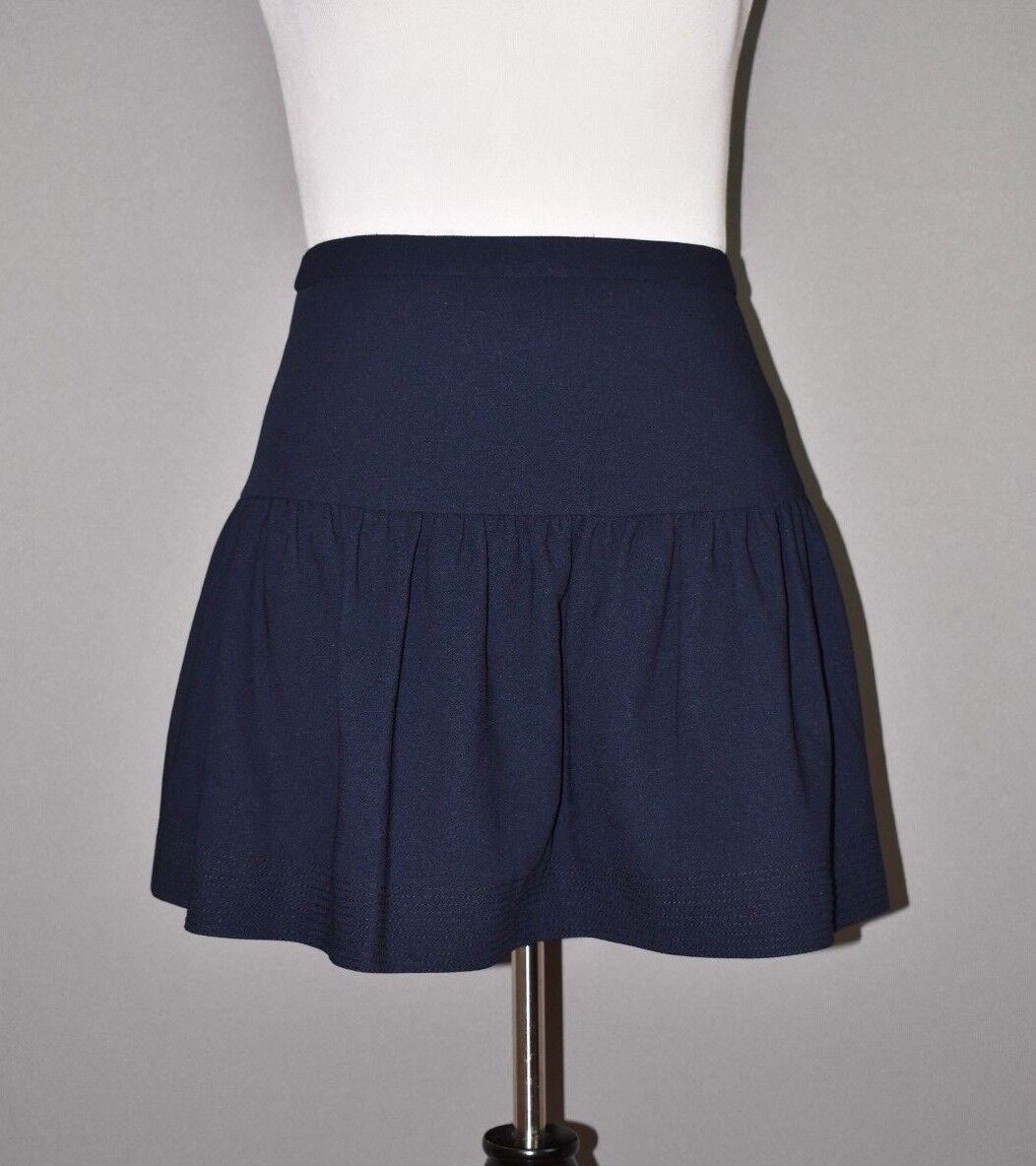 J.CREW NEW  98 Navy Mini Flounce Skirt Size 8