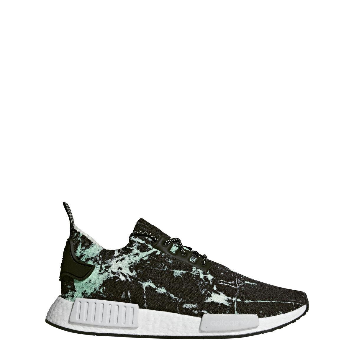 adidas Mens NMD R1 PK Black/White/Green - BB7996