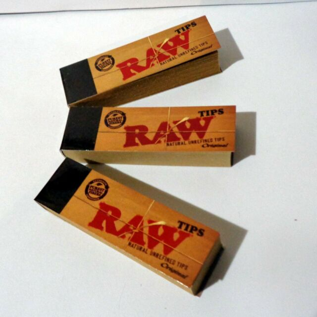 3 x Raw RYO Paper Filter Tips Tobacco Rolling Filters 50 Leaves per book 58x18mm