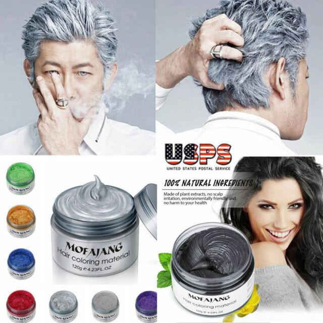 Styling Maker Tools Hair Wax Men Women Dye Gray Mud For Sale Online Ebay