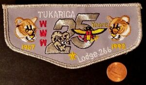 TUKARICA-LODGE-266-OA-ORE-IDA-COUNCIL-PATCH-1967-1992-25TH-ANN-COUGAR-FLAP-SMY