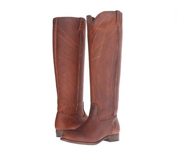 Authentic Frye leather Cara congac tall boots sz 7.5 398