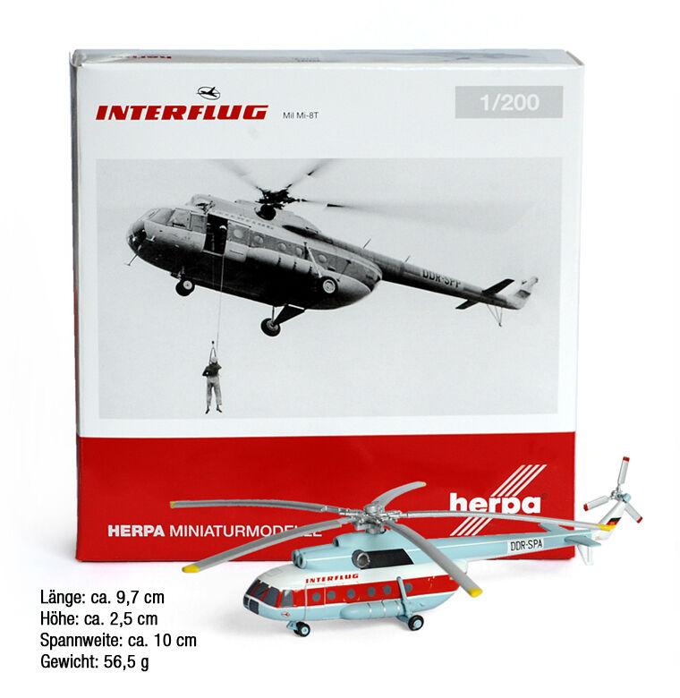 Interflug-mil mi-8t helicóptero helicóptero modelo modelo de de de coleccionista, 1 200 - Herpa 14ed6d