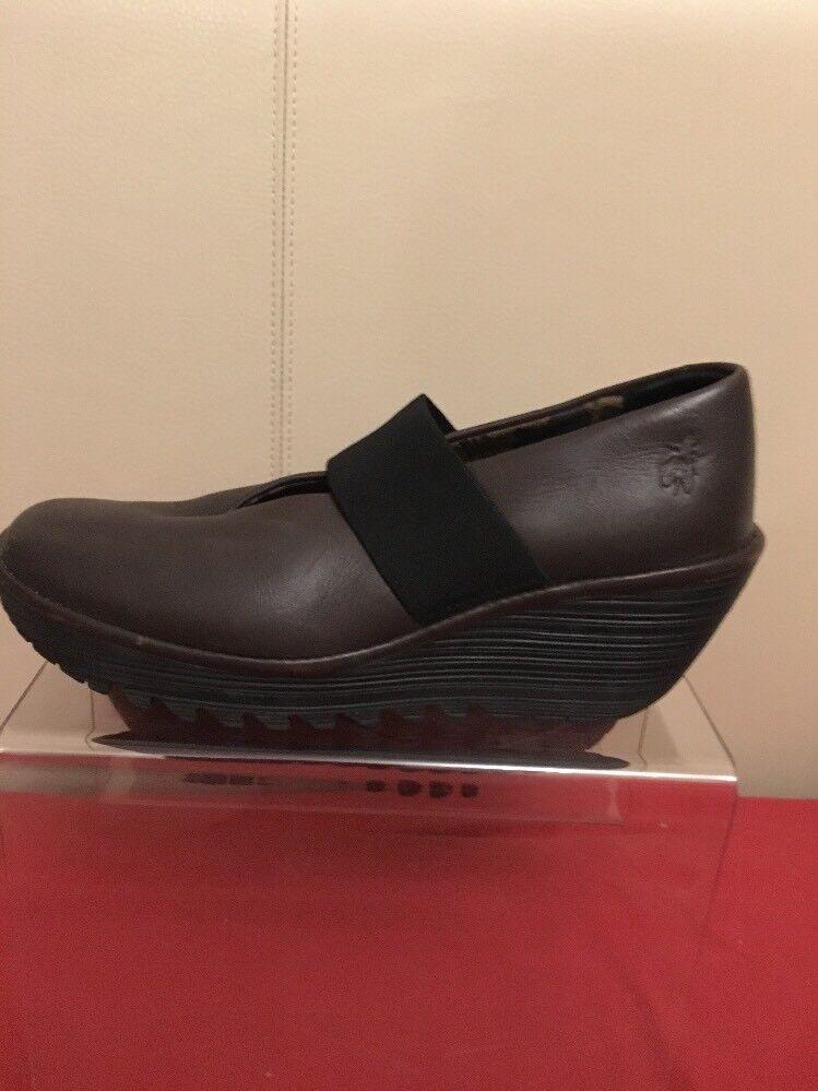 Fly London Marrón Cuña Zapatos Zapatos Zapatos Talla 40 apenas usado  en stock
