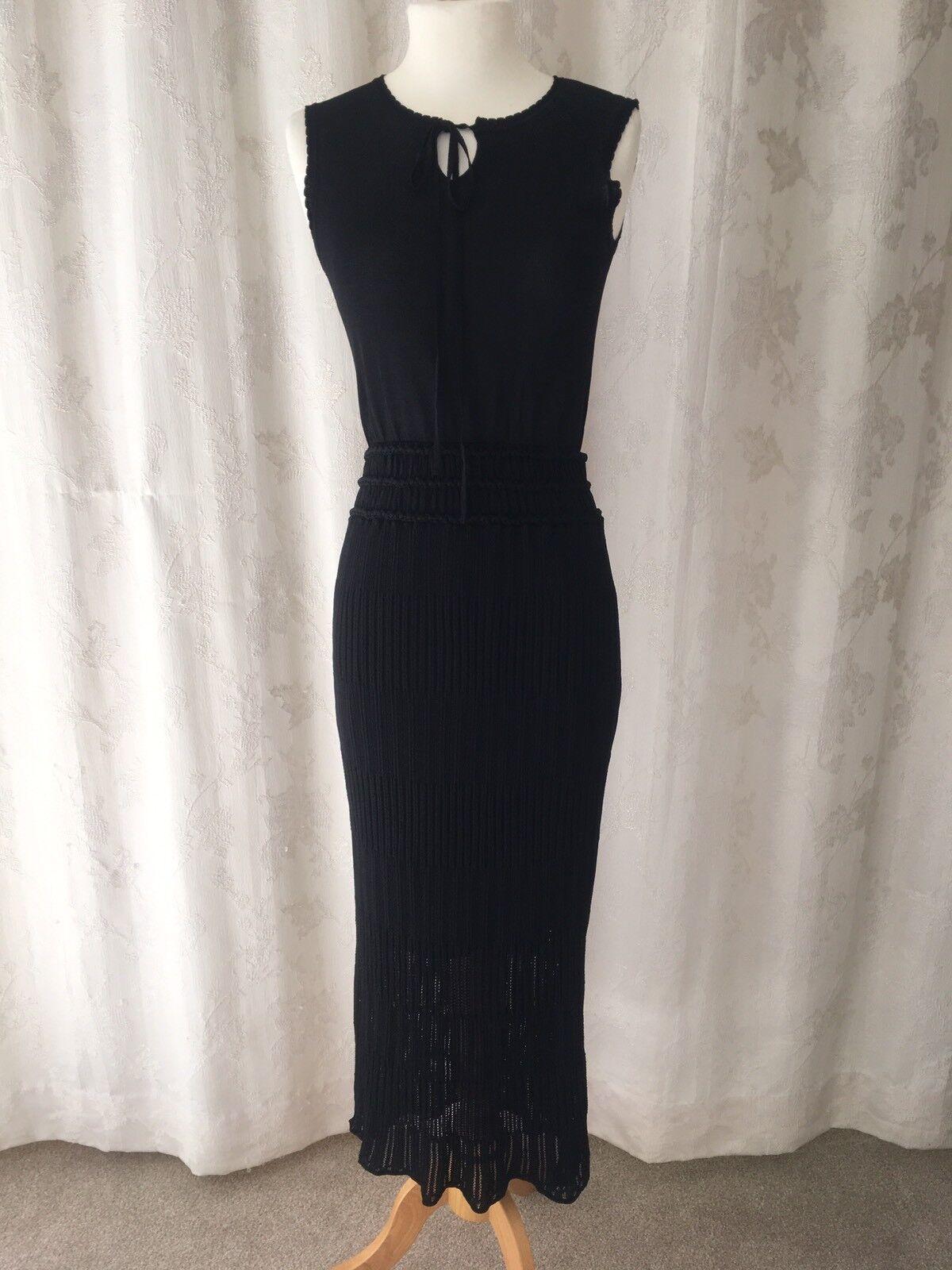 Stunning Stretch Knit Long JORYA Dress Us Size 4 U.K. Size 6
