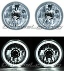 5-3/4 White LED Halo Halogen Light Bulb Crystal Clear Headlight Angel Eye Pair