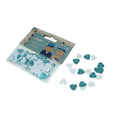 Aqua Turquoise Blue /& White Heart Mix Table Scatter Confetti XMCC16
