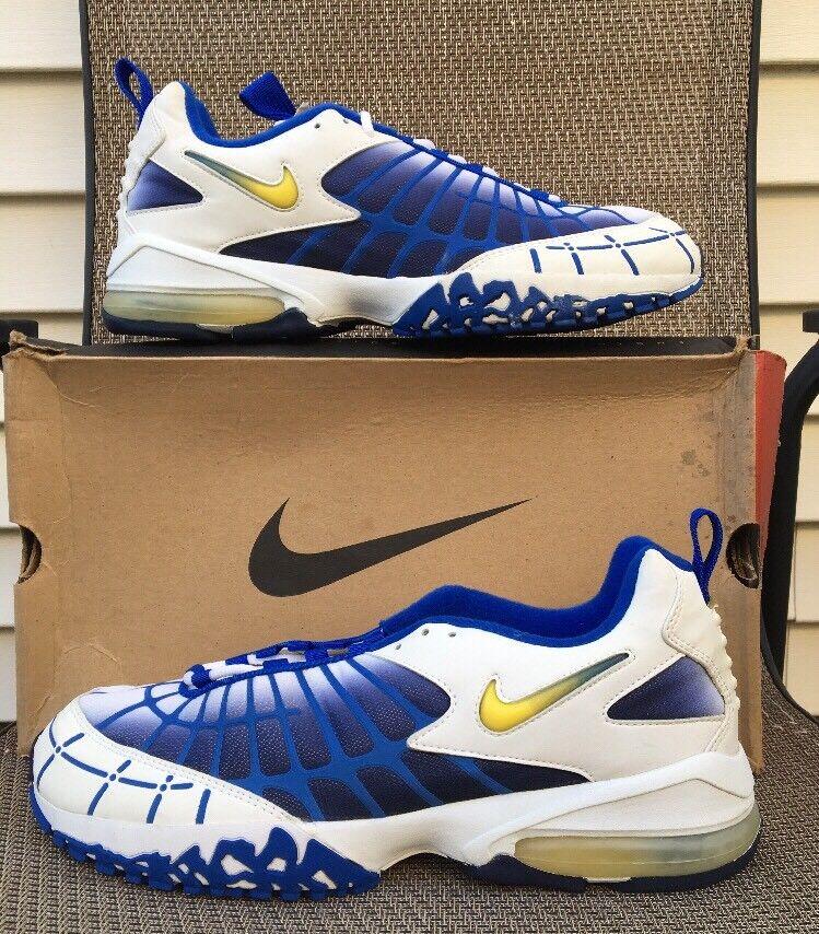 Vintage Nike Air Max 120 Size 13 White bluee  Yellow Lightning 178100-171