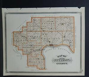 Jefferson County Indiana Map.Indiana Maps 1876 Jefferson County N2 37 Ebay