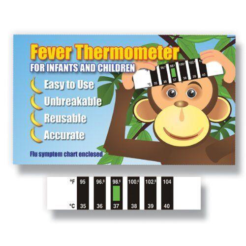 Fièvre /& Grippe pack d/'information bébé Monkey Front Thermomètre avec froid