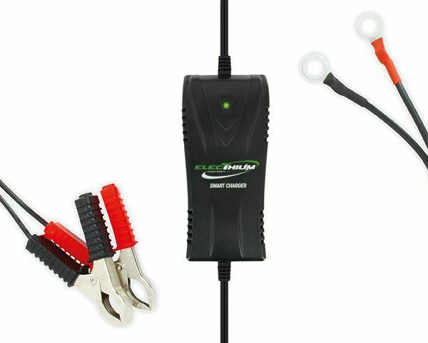 Cargador de Batería Electhium Moto y Scooter Compatible Litio y Ácido