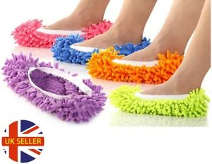 Pair-of-Mop-Slippers-Floor-Cleaning-Polishing-Dusting-Microfibre-Duster