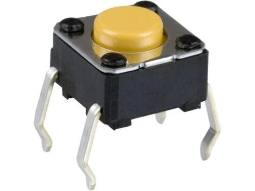 10x B3F-1002 Microswitch 1 posizioni SPST-NO 0.05A//24VDC THT 1.47N 6x6mm OMRON