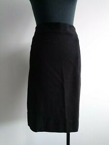 Diane-von-furstenberg-Black-Pencil-Skirt-Elastic-fabric-silk-lining-AU-6-8-S