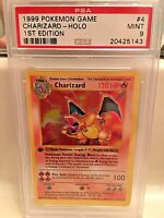 Pokemon PSA 9 1ST EDITION BASE SET CHARIZARD 4/102 - HOLO - MINT