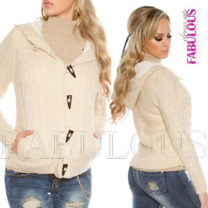 New Women/'s Long Knit Coat Cardigan Knitted Jacket Outerwear Size 6 8 10 XS S M