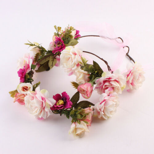 4 Mom and Me Flower Headband Crown Mother Kids Matching Garland Hair Band