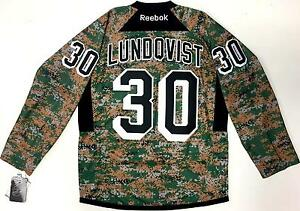 huge discount f8496 ea6ad Details about HENRIK LUNDQVIST NEW YORK RANGERS MILITARY CAMO VETERANS DAY  REEBOK JERSEY NEW