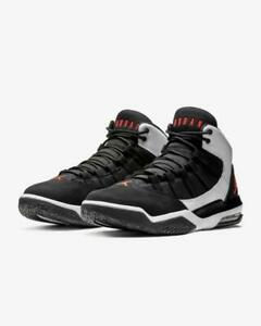 Details about Men's Air Jordan Max Aura Basketball WhiteBlackRed Sizes 8 12 NIB AQ9084 101