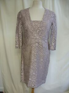 Ladies-Dress-Reiss-UK-12-US-8-pale-lilac-lace-lined-mother-of-the-bride-2449