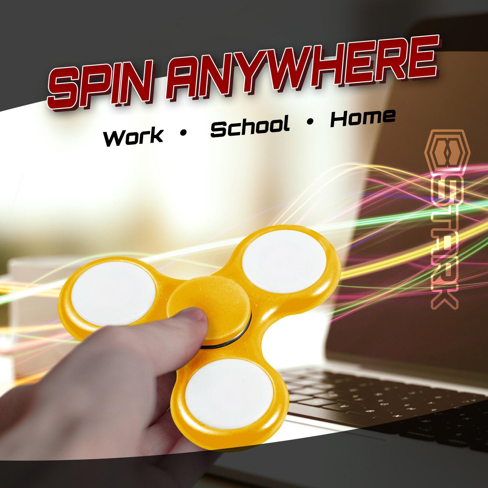 YELLOW LED LED LED Hand Spinner Tri Fidget Focus Desk Toy EDC ADHD Autism KID ADULT x100 1ea3ef
