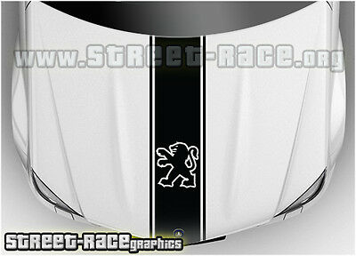 BS1302 Peugeot bonnet racing stripes graphics decals stickers 106, 206, 306