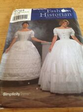 Simplicity 9764 Costume Historical Civil War Petticoat Hoop skirt McCain 6-12