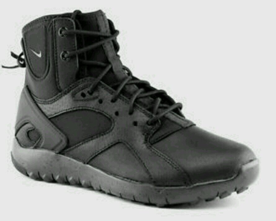 Nike Koth Mid Leather Sneakerboots Women's US 5.5 Black 749532-001 NEW