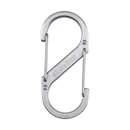 6-Pack Nite Ize S-Biner Stainless Steel #3 Brushed Dual-Gated Carabiner 25lb