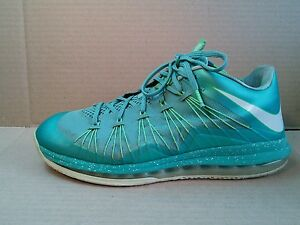 Nike Air Max LeBron X 10 Low Mens Easter Crystal Mint Green Size 11 579765-300